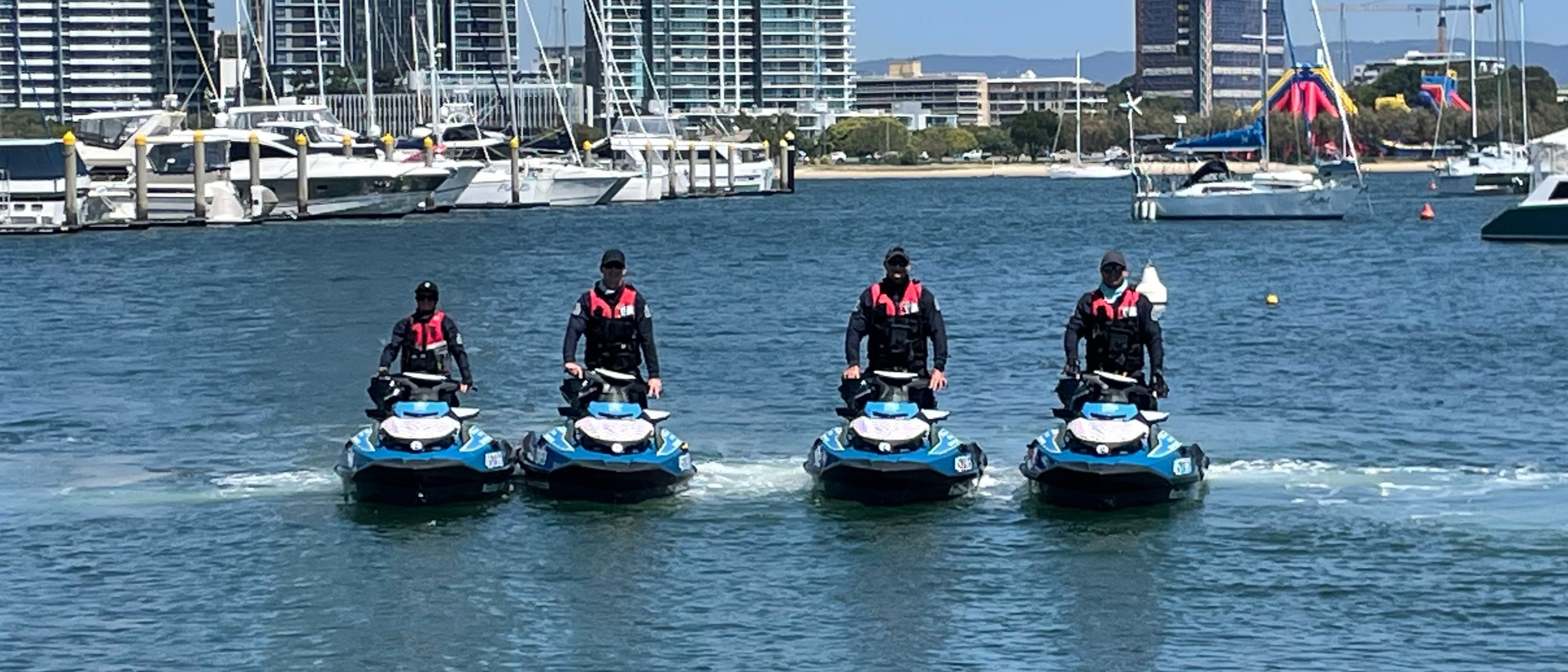 Maritime Safety Queensland, Water Police and Brisbane SeaDoo White Ribbon PWC Ride - proudly supported by RiverCity Ferries